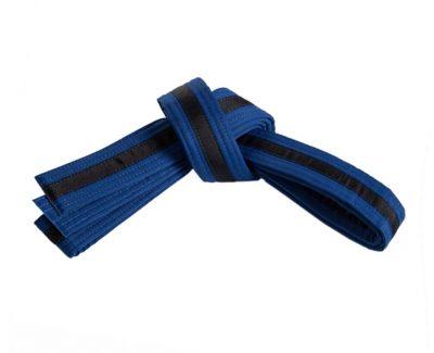Belt, Blue, Black Stripe