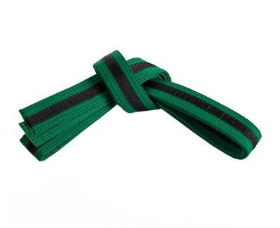 Belt, Green, Black Stripe
