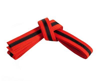 Belt, Orange, Black Stripe