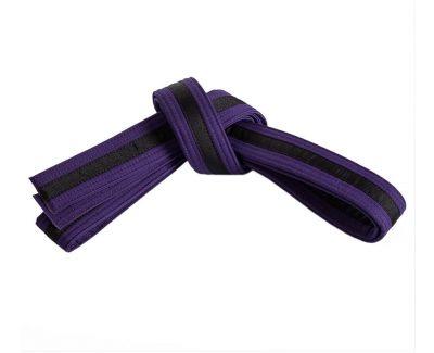 Belt, Purple, Black Stripe